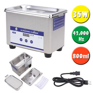Digital Ultrasonic Cleaner Machine Jewelry Watch Glasses Dental Clean Sterilizer