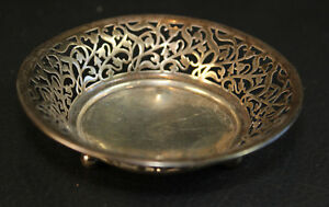 Antique Sterling Silver Small Trinket Ring Dish