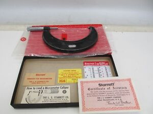 Starrett No 436 Outside Micrometer In Original Box 4 5
