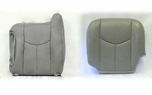 2003 06 Chevy Tahoe Diver Bottom And Top Lean Back Leather Seat Cover Gray 922