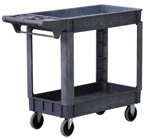 Large Utility Cart Wide Service Carts Commercial Heavy Duty 500 Pound Capacity