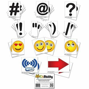 Get Social 4 Inch Letter Set For Sidewalk Signs Emoticons Punctuation Arrows
