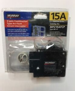 New Circuit Breaker Murray Mp215afc 15 Amp 2 Pole 120 240v Combination Afci