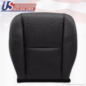 2011 2012 Chevy Tahoe Ltz Driver Bottom Seat Cover Perforated Leather Black
