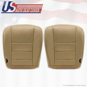 2002 2004 Ford Excursion Lmtd Driver Passenger Bottom Leather Seatcover Tan