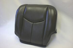 2003 2006 Silverado Driver Bottom Oem Replacement Leather Seat Cover Dark Gray