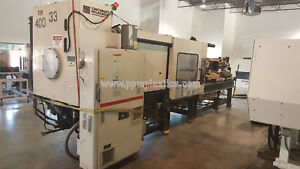 1999 Milacron Mh400 54 h04a0400017 Used Plastic Injection Molding Machine