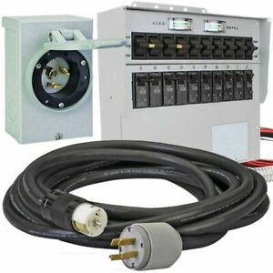 Reliance Controls 50 amp 120 240v 10 circuit Power Transfer System W Inter