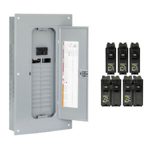 Square D 100 amp 48 circuit 24 space Indoor Main Breaker Electrical Panel New