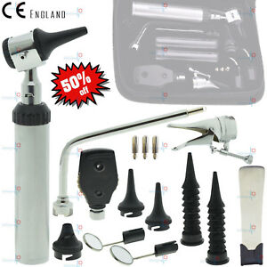 Ent Medical Opthalmoscope Ophthalmoscope Otoscope Larynx Nasal Diagnostic Set Ce