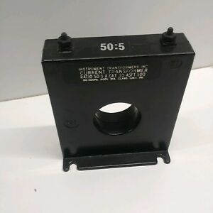 New Old Stock Instrument Transformers Inc 50 5a Current Transformer 10 asft 500
