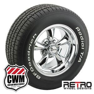 15 15x8 Polished Aluminum Wheels Rims Tires 225 60r15 For Ford Mustang 1967 73