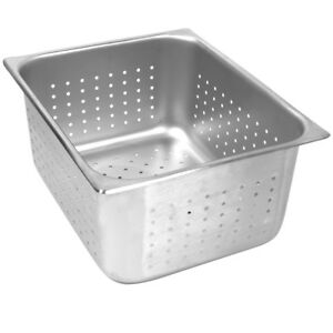 Thunder Group Stpa7006pf Full Size 6 inch Deep Perforated 24 Gauge Steam Pan S