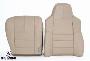 08 10 F250 F350 Lariat complete Driver Side Replacement Leather Seat Covers Tan
