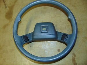 Ford Festiva Steering Wheel With Center Horn Buttons Gray 88 89 90 91 92 93