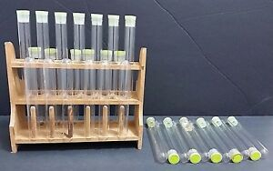 Vtg Wood Test Tube Stand Drying Rack 12 Holes 30 El Producto Glass Cigar Tubes