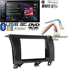 Pioneer Double Din Dvd Cd Player Radio Bluetooth Dash Install Kit Usb