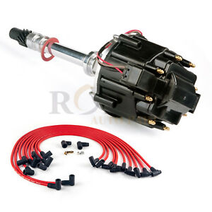 Ignition Distributor For Chevy Sbc 283 305 327 350 400 Hei Spark Plug Wires