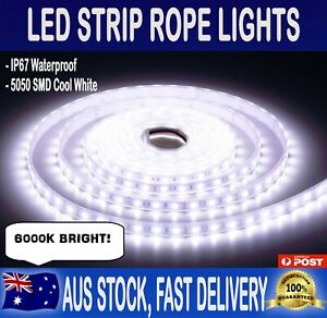 Led Strip Lighting Car Caravan Boat 5 Metres Bright White Waterproof Home Garden