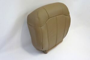 1999 2000 2001 2002 Chevy Silverado 2500 Driver Bottom Leather seat Cover Tan