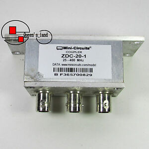 1 used Mini circuits Zdc 20 1 25 400mhz 20db Bnc Directional Coupler