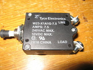 Lot Of 5 Tyco W23 x1a1g 7 5 Circuit Breaker 7 5a 250vac 50vdc Aircraft Military