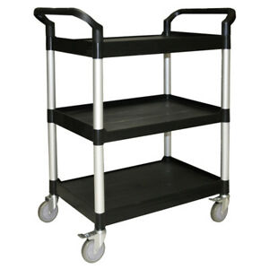 Thunder Group Plbc3316b 33 1 2 x16 1 8 x37 3 tier Bus Cart Black