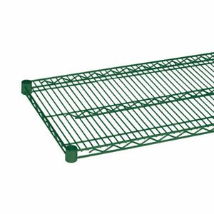 Thunder Group Cmep1860 18 x60 Epoxy Coated Wire Shelf With 4 Sets Of Plastic C