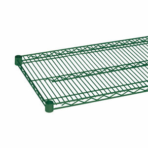 Thunder Group Cmep1448 14 x48 Epoxy Coated Wire Shelf With 4 Sets Of Plastic C