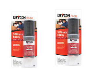 2 Pack Devcon 5 Minute Epoxy High Strength 1500 Psi S208 20845