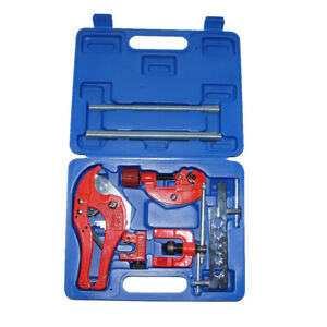 Kit 7pc Metric Brake Pipe Flaring Kit Pipe Cutter Spring Tube Bender W Case
