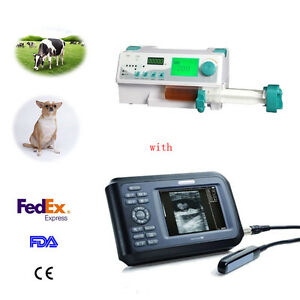 Usa Stock Veterinary Handscan Ultrasound Scanner With Pocket Hd Lcd Syringe Pump