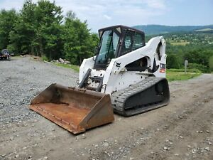 2013 Bobcat T870 Track Skid Steer Fully Loaded Forestry Mulcher Pkg Finance