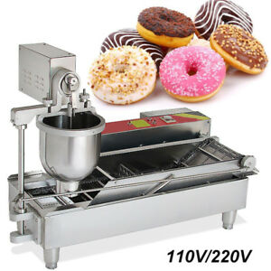 Safty Commercial Automatic Donut Maker Making Machine Wide Oil Tank 3 Size Mold