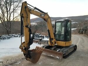 Caterpillar 305d Cr Excavator Cab Heat A c Hydraulic Thumb New Tracks Nice