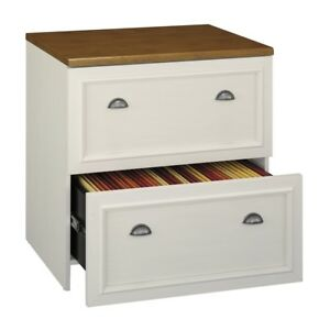 Bush Furniture Fairview Lateral File Cabinet Wc53281 03 Antique White Modern