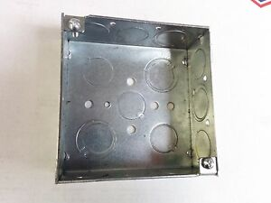 50 Pc Lot 4 Square Welded Electrical Box 1 1 2 Deep 1 2 3 4 Ko s raco 189