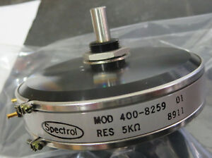 Spectrol 400 8259 Potentiometer 5k Ohm Single Turn
