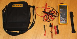 Nice Fluke 233 a Automotive Multimeter Case Leads Magnetic Strap Temp Probe