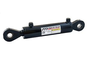 Hydraulic Cylinder Welded Double Acting 2 Bore 8 Stroke Swivel Eye End 2x8 New