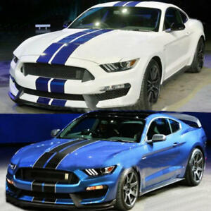 Vinyl Racing Stripe Car Sticker Auto Doors Side Skirt Decal For Ford Mustang