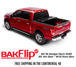Bakflip G2 Tri Fold Tonneau Cover 02 18 Dodge Ram 1500 6ft 4in Bed W O Ram Box