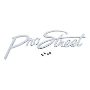 Pro Street Chrome Die Cast Metal Emblem Script Car Truck Custom Hot Rat Rod