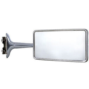 Rectangle Long Arm Peep Glass Mirror Outside Side Rear View Door Hot Rod Single