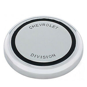 67 68 Chevy Truck Chrome Steering Wheel Horn Cap Button Chevrolet Division New