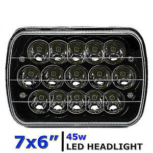 7x6 Black Led Hid Light Bulbs Clear Sealed Beam Headlamp Headlight