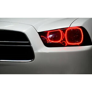 Multi color Changing Led Rgb Headlight Halo Ring Set For 2011 14 Dodge Charger