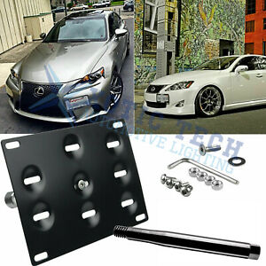 License Plate Front Bumper Tow Hook Mount Bracket Holder For Lexus Is Rc Gs Ct