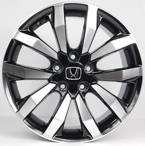 4 17x7 Honda Civic Accord Machined Black Aftermarket Rims Wheels 5x114 3 45