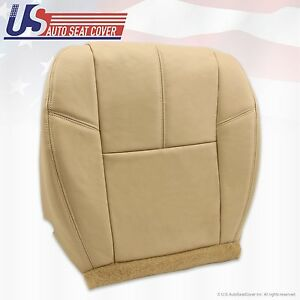 2007 To 2012 Chevy Avalanche Driver Bottom Leather Upholstery Cover Tan